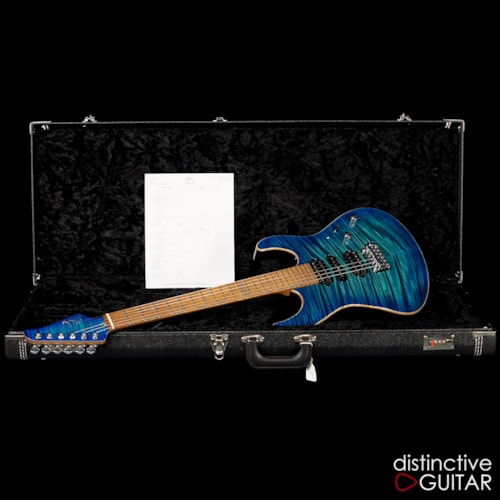 Suhr Custom Modern Aqua Blue Burst, Brand New, Original Hard, $4,385.00