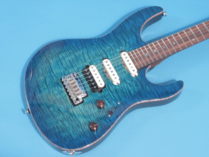 Suhr Custom Modern Bahama Blue Burst, Brand New, Hard, $4,496.00