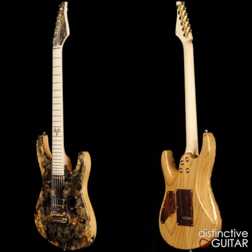 Suhr Custom Modern Carve Top Buckeye Burl Natural, Brand New, Original Hard, $4,935.00
