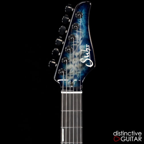 Suhr Custom Modern Carve Top Faded Trans Whale Blue, Brand New, $5,185.00