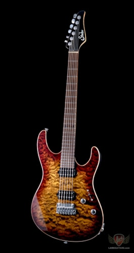 Suhr Custom Modern Set-Neck HH Quilted Maple - Bengal Burst (328)