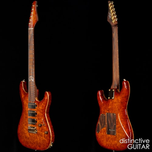 Suhr Custom Standard Distinctive Select 1-Piece Body Honey Burst Burl, Brand New, Original Hard, $7,335.00