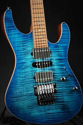 Suhr Eddie's Guitars Exclusive Roasted Modern - Aqua Blue Burst