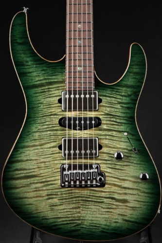 Suhr Eddie's Guitars Exclusive Roasted Modern - Faded Trans Green Burst