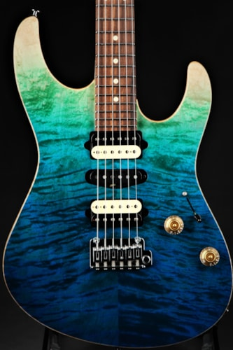Suhr Limited Edition Modern Plus - Aqua Blue Gradient Brand New, GigBag, $3,285.00
