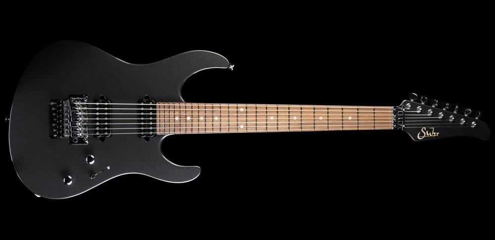 Suhr Modern 7-String Electric Guitar Roasted Maple Neck Black Pearl Metallic Black Pearl Metallic, Brand New, $2,849.00