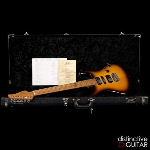 Suhr Modern Antique Guthrie Govan Roasted Recovered Sinker Maple  2 Tone Tobacco Burst, Brand New, Original Hard, $4,185.00