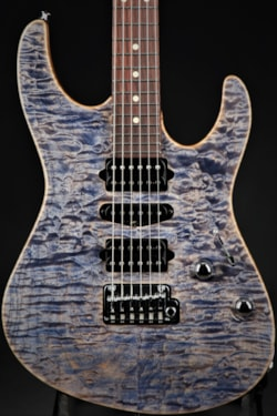 Suhr Modern Carve Top - Trans Blue/Denim Slate