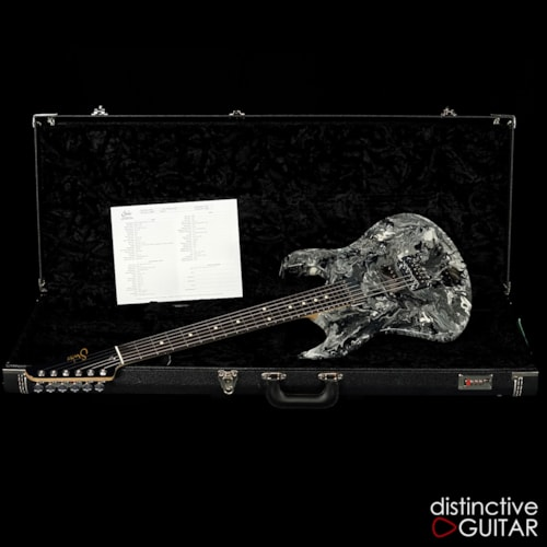 Suhr Modern Custom Black/White Twisted Drip, Brand New, Original Hard, $4,385.00