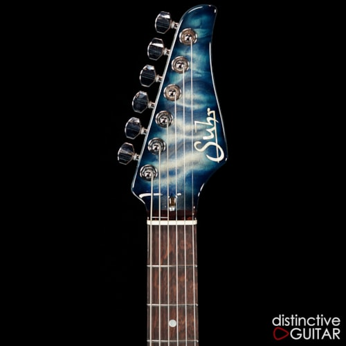 Suhr Modern Custom Carve Top Faded Trans Whale Blue, Brand New, Original Hard, $4,885.00