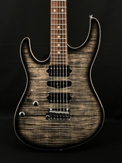 Suhr Modern Plus Left-Handed in Transparent Charcoal Burst with Pau Ferro Fingerboard