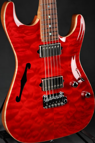 Suhr Standard Arch Top - Trans Red/5A Roasted Birdseye Maple Neck