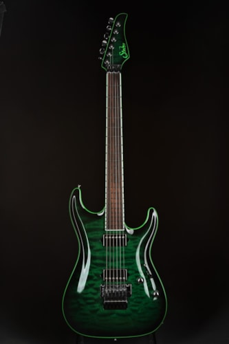 Suhr Standard Carve Top - Trans Green Burst Brand New, Hard