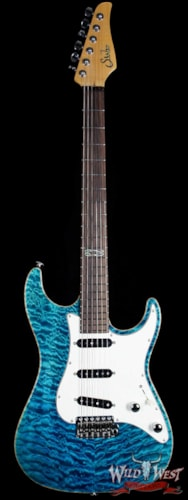 Suhr Standard Quilted Maple Top Bahama Blue SSS Bahama Blue, Brand New, $3,699.00