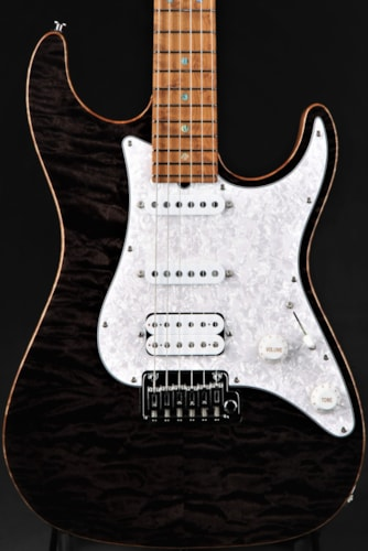 Suhr Standard - Trans Black/5A Roasted Birdseye Maple Neck Brand New, Hard