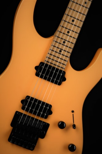 Suhr Tangerine Freeze/Roasted Maple Neck