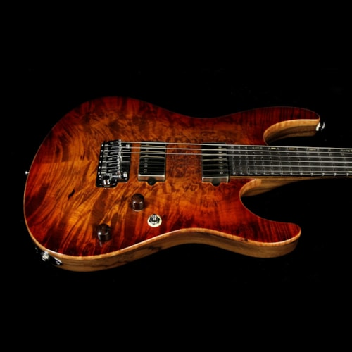 Suhr Used Suhr Modern Waterfall Burl Electric Guitar Copperhead Burst