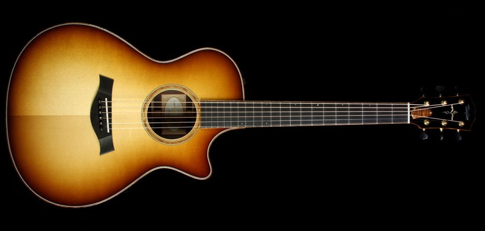 Taylor Custom Shop BTO Grand Concert Indian Rosewood Acoustic Guitar Shaded Edgeburst