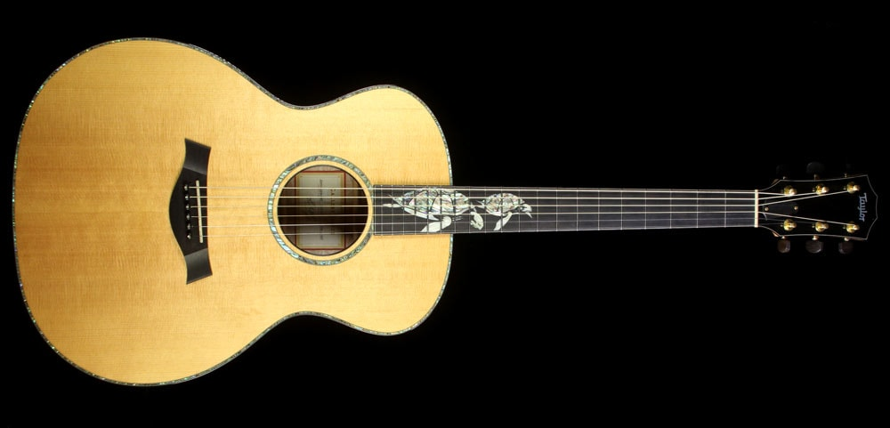 Taylor Used 2000 Taylor Limited Edition Gallery Series Sea Turtles Grand Auditorium Acoustic Guitar Natural Natural, Excellent, $6,499.00