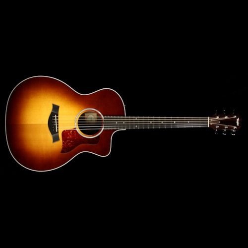 Taylor Used Taylor 214ce Deluxe Grand Auditorium Acoustic/Electric Guitar Sunburst Excellent, $1,099.00