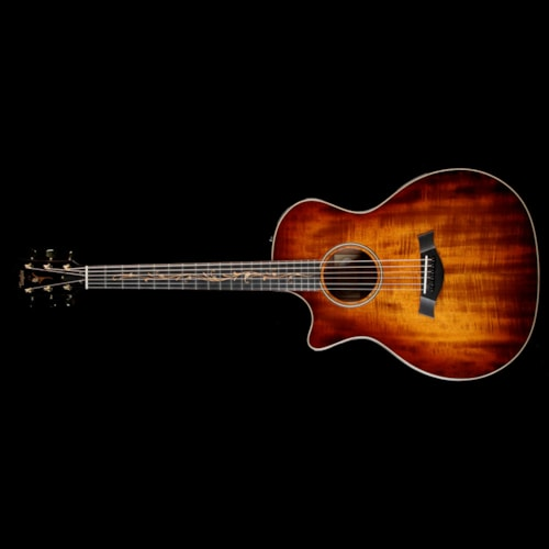 Taylor Used Taylor K24ce Koa Grand Auditorium Left-Handed Acoustic-Electric Guitar Shaded Edgeburst Excellent, $3,399.00