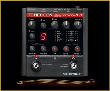 TC Electronic TC-Helicon VoiceTone Harmony-G XT Vocal Harmony and Effects for Guitarists