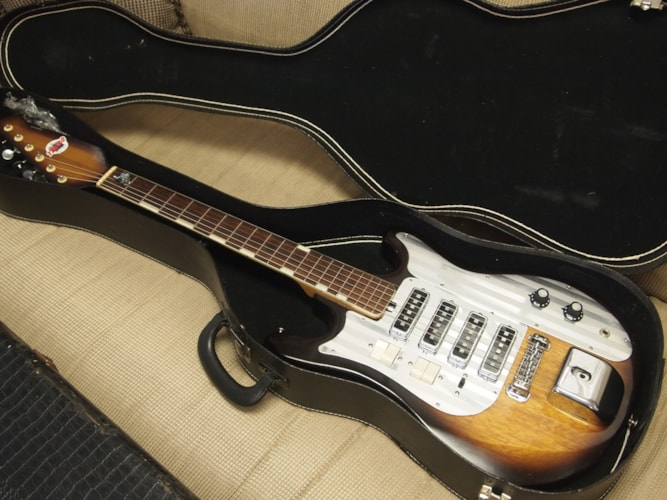 Teisco Del Rey  Et-440 2 tone sunburst, Excellent, Original Hard, $599.00