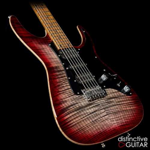 Tom Anderson Guardian Angel Natural Black to Red Burst