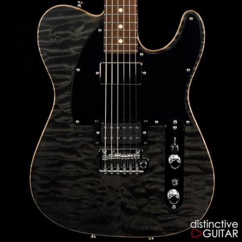 Tom Anderson Top T Classic Shorty Satin Trans Black Quilt