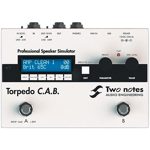 Two Notes Torpedo C.A.B. Speaker Cabinet Simulator Pedal Brand New
