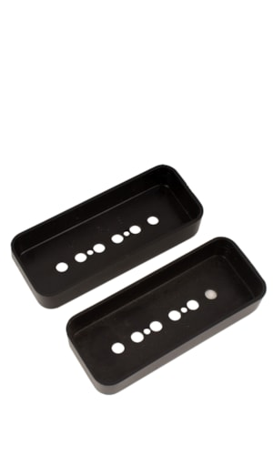 NOS Original Gibson P-90 Pickup Covers, Black