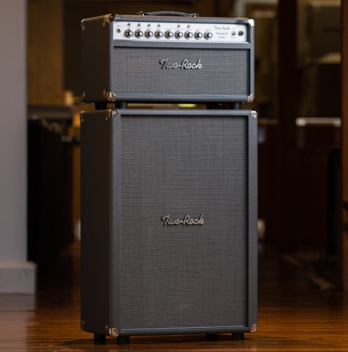 Two-Rock Bloomfield Drive 100/50 Head and 2x12 Cabinet - Slate Gray Bronco/Silver Thread Grille