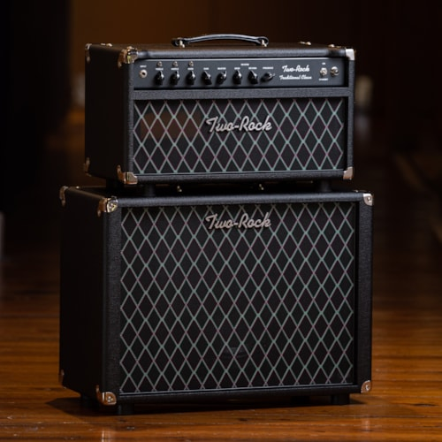 Two-Rock Traditional Clean 100/50 Head and 1x12 Cabinet  - Black with Black Diamond Grille