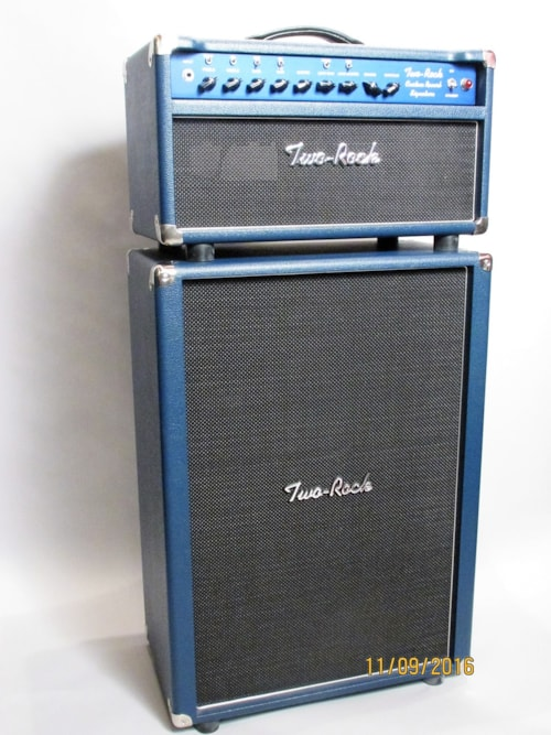 two rock k m custom reverb signature navy blue amps preamps golden age fretted instruments. Black Bedroom Furniture Sets. Home Design Ideas