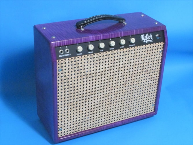 Tyler Ampworks JT-14 Combo Flamed Maple Cabinet Trans Purple, Near Mint, $1,295.00