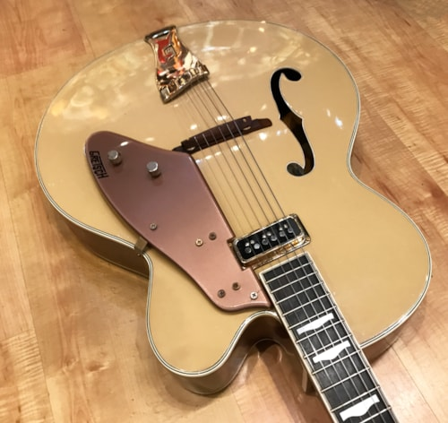 Vintage 1955 Gretsch Convertible 6199 'Sal Salvador' Bamboo Yellow and Copper Mist