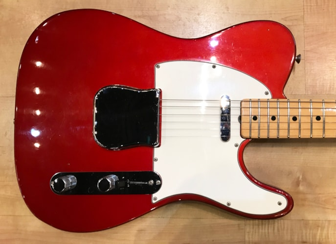 Vintage 1968 Fender Telecaster Electric Guitar All Original Candy Apple Red