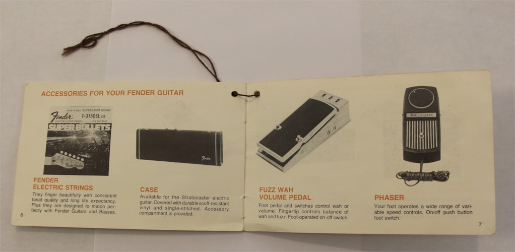 Vintage 1978 Fender Stratocaster Hang Tag Owner's Manual - Clean