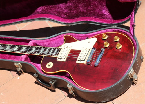Vintage 1978 Gibson Deluxe - Highly Figured Maple Top - Great Action & Tone OHSC