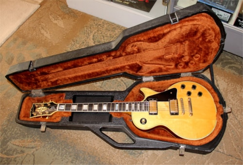 Vintage 1981 Gibson Les Paul Custom - Natural Finish - w/ Original Chainsaw Case