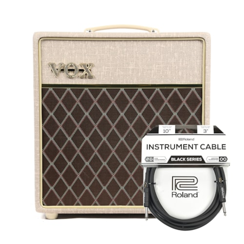Vox AC4HW1 Hand-Wired 4w 1x12 Combo Cable Bundle