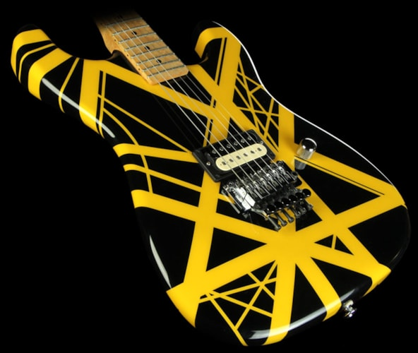 Wayne 2001 Wayne Rock Legend Electric Guitar Black with Yellow Stripes Black with Yellow Stripes, Excellent, $3,049.00