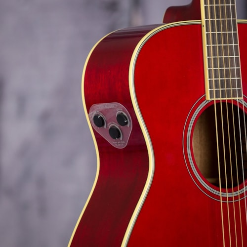 Yamaha FS-TA Acoustic Electric Guitar - Ruby Red
