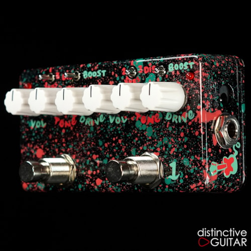 Zvex Double Rock Distortion Hand Painted Custom, Brand New