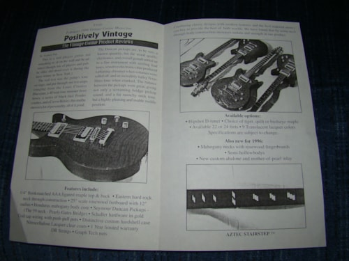 1995 Jaros Guitar Pamphlet-Catalog