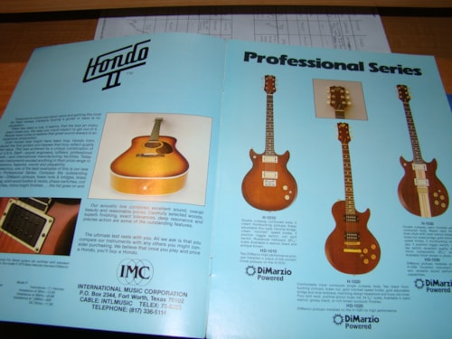 1980 Hondo II Catalog 12 Pages