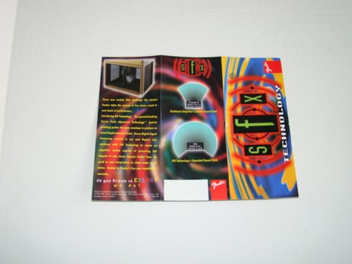 1998 Fender SFX Pamphlet Catalog