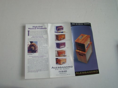 1999 Alessandro High End Products Pamphlet Catalog