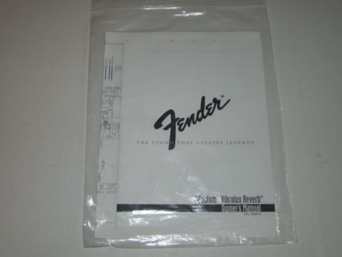 2000 Fender® Custom Vibrolux® Owners Manual/Schematic