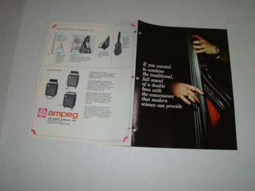 1971 Ampeg Baby Bass Pamphlet